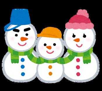 Snowman_yukidaruma_family_2